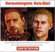 They didn't even try to make Cullen realistic... but who wants realistic when you can have that, right?