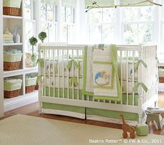 Peter Rabbit™ Nursery Bedding Set #PotteryBarnKids (bumpers to be used for curtain valances)