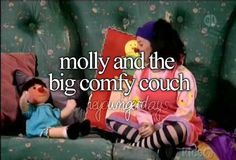 Molly & the big comfy couch.