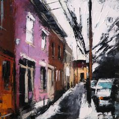 "Saatchi Online Artist: c jeremy price; Oil 2013 Painting ""rue_plessis_II"""