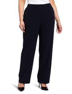 Briggs New York Women`s Plus-Size Flat Front Pant Average Length $42.94