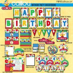 Caillou Party Printables #Caillou #CaillouParty #BirthdayParty