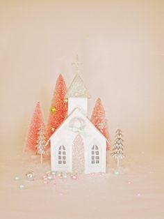 Pretty glitter house