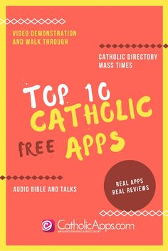 Top 10 FREE Catholic Apps you need on your iOS Device. This is a classic and the walk through video has been viewed thousands of times. Which free Catholic apps will you be grabbing for your phone? Repin to save the list, and to evangelize your followers!