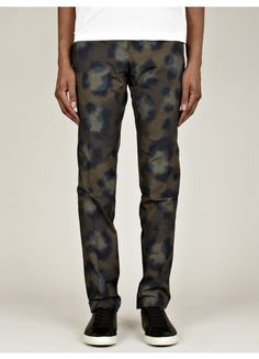 Mens Leopard Print Trousers