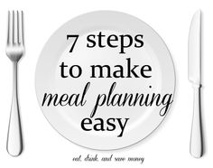 Meal planning doesn't have to be hard. Follow these 7 steps to make meal planning easy. Great ideas for menu planning / menu prep / meal prep.
