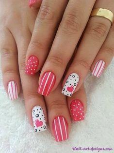 Simple nail art designs at home