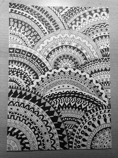 Doodle draw art art black and white black ink circles dibujos doodle draw Mandala Art, Mandalas Painting, Mandalas Drawing, Mandala Sketch, Mandala Tattoo, Painting Art, Paintings, Doodle Art Drawing, Zentangle Drawings