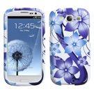 Samsung Galaxy S3 MyBat Blue Hibiscus Case