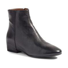 Women's Aquatalia 'Uri' Weatherproof Hidden Wedge Bootie featuring polyvore, women's fashion, shoes, boots, ankle booties, black, suede booties, black boots, black booties, suede ankle booties and suede ankle boots