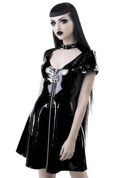 Sin City Skater Dress | Killstar Gothic Girls, Steam Punk, Gothic Mode, Goth Beauty, Sin City, White Outfits, Lace Tops, Gothic Fashion, Steampunk Fashion