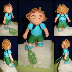Badminton player #handmade #fondant #caketopper #cake #sports #badminton