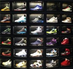 This shoe collection/shoe display is awesome!