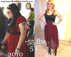 The Best Female Weight Loss Pics: This is part 4 of our fat loss motivation series. The first step to accomplishing your fitness goals is deciding you want to make a change and getting motivated. We have collected another 30 of the best female weight loss transformation pictures from around the web to motivate you to transform your own body and change your life!