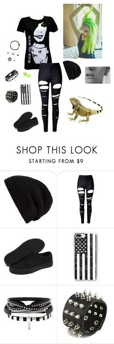 """Emo"" by lizz-ek ❤ liked on Polyvore featuring Rick Owens, WithChic, Vans, Casetify and Hot Topic"