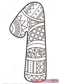 Great Image of Number 1 Coloring Page Number 1 Coloring Page Number 1 Zentangle Coloring Page Free Printable Coloring Pages Animal Coloring Pages, Coloring Sheets, Coloring Books, Free Printable Coloring Pages, Coloring Pages For Kids, Shopkins Colouring Pages, Printable Crafts, Alphabet And Numbers, Mandala Coloring