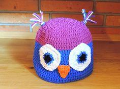 Crochet hat Owl by SimsoBabyShop on Etsy
