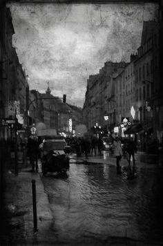 manifestation de pompier faubourg saint Antoine Saint, Paris, Painting, Firefighter, Montmartre Paris, Painting Art, Paris France, Paintings, Painted Canvas