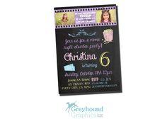 chalkboard chalk birthday Photo Card  movie by GreyhoundGraphics, $12.00