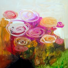 Waldport Rose 36x36 canvas  wendy mcwilliams