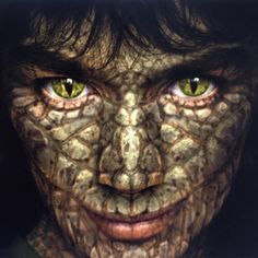 ADI's #makeup design for Evra the Snake Boy in #vampiresassistant. Rejected. Don't even wanna show you what made it to the screen. #photoshop by the talented Steve Koch. #makeupeffects #pfx #vfx #design #art #sculpture #prosthetic #tattoo #facepaint #horror #extreme #reptile #snake #movie #