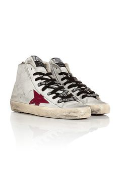 Leather Francy High-Top Sneakers  BY GOLDEN GOOSE