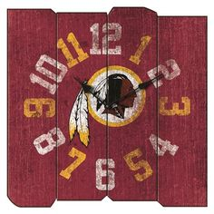 Show your team pride in any room of the house and know what time the big game starts with this Washington Redskins Vintage Square Clock by Imperial USA. This Officially Licensed clock highlights your
