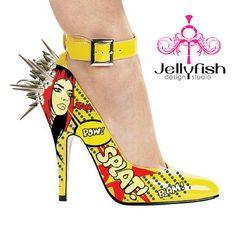 Super Villian Comic Book Heels! Splat!
