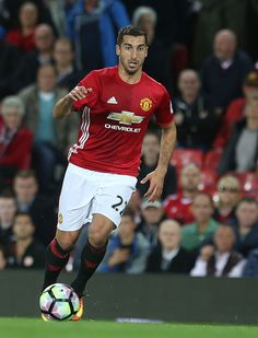 Henrikh Mkhitaryan of Manchester United in action during the Premier League match between Manchester United and Southampton at Old Trafford on August...