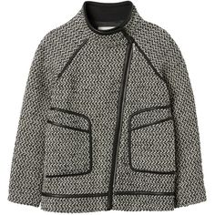 Rebecca Taylor Tweed Asymmetric Coat