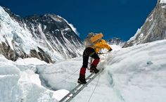 Camp Two, Mount Everest  Photograph by Brad Jackson, My Shot    Sandy Hoby climbs the last ladder before Camp Two on Mount Everest.  (This photo and caption were submitted to My Shot.)