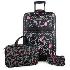 Hello Kitty 3-Piece Luggage Ensemble d46cebd54071