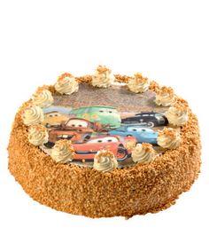 Dětský dort 09 Dort karamelový s obrázkem na jedlém papíru.