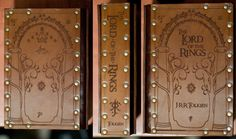 Leather covered copy of Lord of the Rings by Studio42Books on Etsy, $85.00