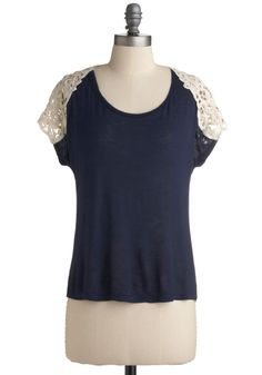 Fun at the fairgrounds top. Modcloth. $29.99 The perfect way to wear a dark color in summer.