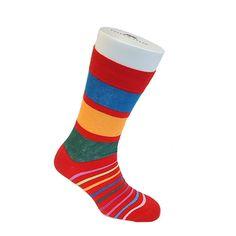 Tyler and Tyler - English socks sensation #STRIPEY #RED #SOCKS