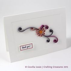 Crafting Creatures: Quilled Thank You Cards (2 of 8)