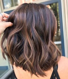 Bite Size Snickers®️ By - Hair and Beauty Brown Hair Balayage, Brown Hair With Highlights, Brown Hair Colors, Brunette Balayage Hair Short, Short Brunette Hairstyles, Balyage Short Hair, Short Dark Hair, Medium Hair Styles, Short Hair Styles