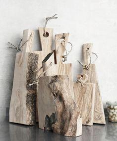 Tablas de corte de madera natural