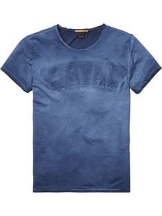 T-Shirt mit 3D Artwork Print|Jersey-T-Shirts & Tops S/S|Herrenbekleidung von Scotch & Soda
