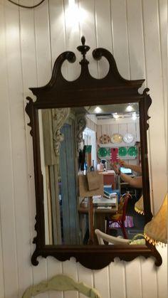 English Mahogany Mirror Solid Wood Sits 5 Ft by BorrowedButBetter