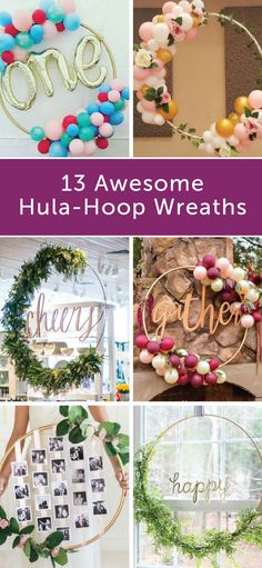 No matter what the occasion, these 13 awesome hula-hoop wreaths are the perfect way to spice up your next summer party. Try using things like fake plants, colorful balloons, and printed photographs to create these creative decorations. From crafting to hostessing, Poise® pads and liners can help make sure that LBL doesn't get in the way of your fun.