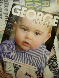 GEORGE; AT ONE ~ HRH Prince George of Cambridge at 1. Sun on Sunday magazine, July 13, 2014