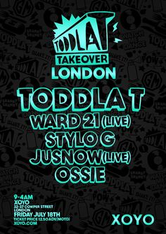 Hold tight for the XOYO Toddla T takeover! Musical discs to make you jump and twist...