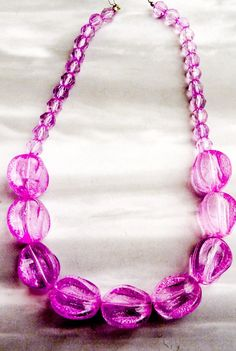 vintage big chunky purple lucite necklace - etsy
