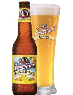 Leinenkugel Summer Shandy  This pin is definitely for Gabe because I usually find Leinenkugel's flavors a little strong. The lemon in this beer is great for when you want a light beer with some zing! Happy BBQ season!