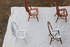 Chairs update from bowerpowerblog.com 2 cans of primer...
