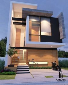 Imponente casa con proyección de líneas rectas y rincones angulares de 90 gradis