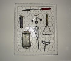 What a great idea -- I might have to do this for my collection of vintage kitchen implements...