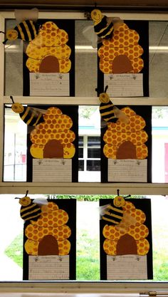 Buzzing about Bees! Bee art projects for kids! Bee Activities, Spring Activities, Writing Activities, Classroom Crafts, Classroom Themes, Spring Art, Spring Crafts, Art For Kids, Crafts For Kids